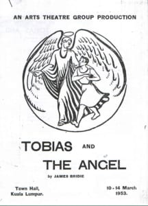 1953, Tobias and The Angel: Programme Cover