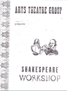 1955, Shakespeare Workshop: Programme Cover