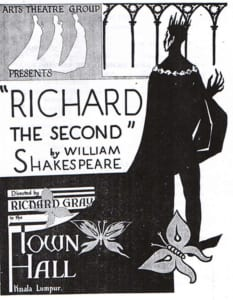 1956, Richard The Second: Programme Cover