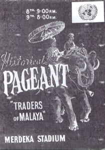 "1958, Historical Pageant 'Traders of Malaya"": Programme Cover"