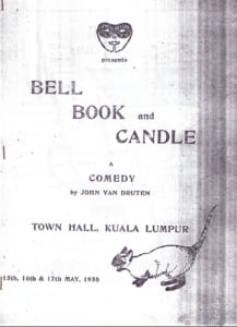 1958, Bell, Book and Candle: Programme Cover