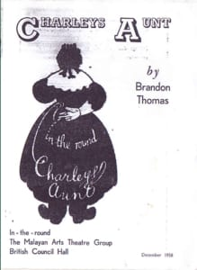 1958, Charleys Aunt: Programme Cover