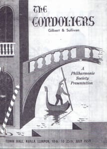 1959, The Gondoliers: Programme Cover