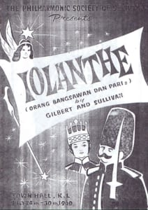 1960, Iolanthe: Programme Cover