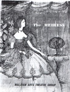 1963, The Heiress: Programme Cover
