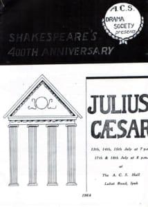 1964, Julius Caesar: Programme Cover