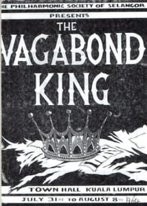 1964, The Vagabond King: Programme Cover
