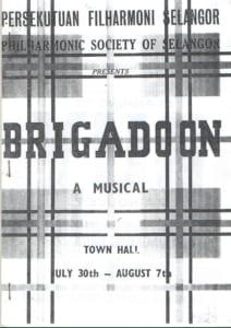 1965, Brigadoon: Programme Cover