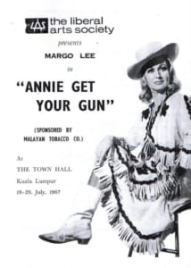 1967, Annie Get Your Gun: Programme Cover