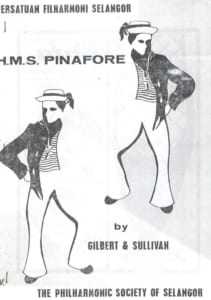 1967, H.M.S. Pinafore: Programme Cover