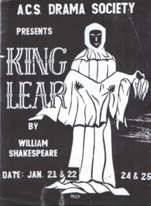 1969, King Lear: Programe Cover
