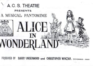 1969, Alice in Wonderland: Programme Cover