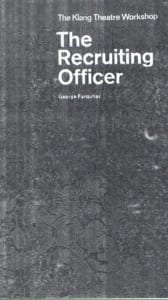 1969, The Recruiting Officer: Programme Cover