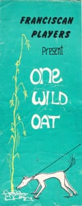 1970: One Wild Oat: Programme Cover