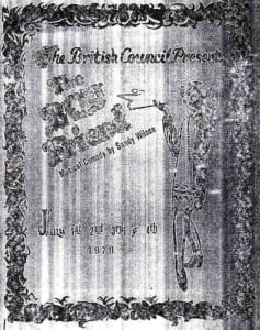 1970, The Boy Friend: Programme Cover