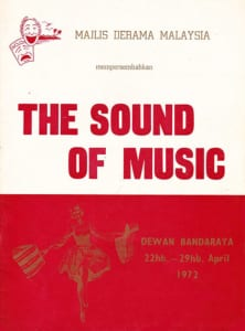 1972, The Sound Of Music: Programme Cover
