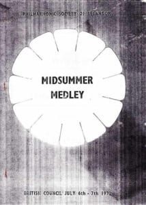 1972, Midsummer Medley: Programme Cover