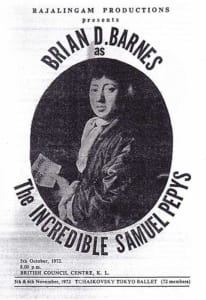 1972, The Incredible Samuel Pepys: Programme Cover