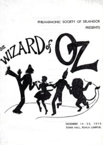 1973, The Wizard of Oz: Programme Cover