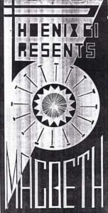 1974, Macbeth: Cover