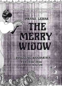 1976, The Merry Widow: Programme Cover