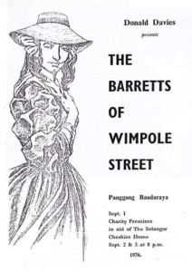 1976, The Barretts Of Wimpole Street: Programme Cover