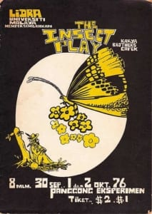 1976, The Insect Play: Programme Cover