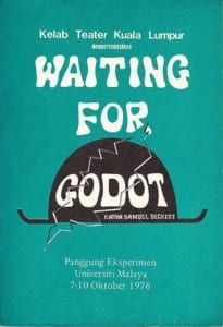 1976, Waiting for Godot: Programme Cover