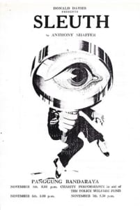 1976, Sleuth: Programme Cover
