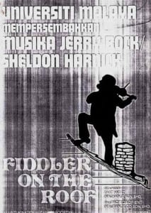 1977, Fiddler On The Roof: Programme Cover