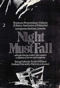1978, Night Must Fall: Programme Cover