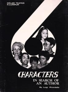 1978, Six Characters in Search of an Author: Programme Cover