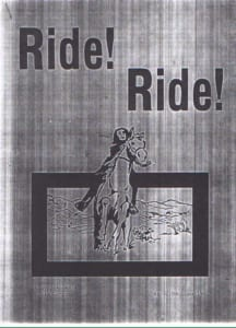 1980, Ride! Ride!: Programme Cover