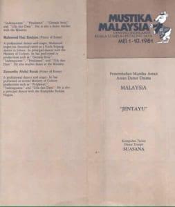 1981, Jentayu: Programme Cover
