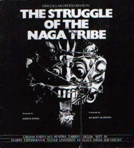 1981, The Struggle of The Naga Tribe: Programme Cover