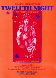 1982, Twelfth Night: Programme Cover