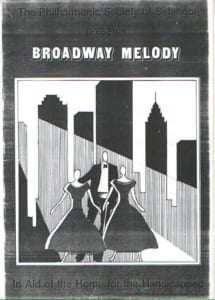 1984, Broadway Melody: Programme Cover
