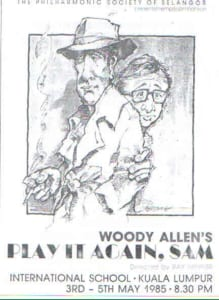 1985, Play It Again, Sam: Programme Cover