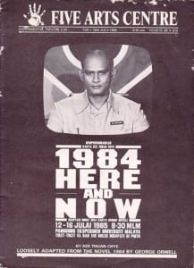 1985, 1984 Here & Now: Programme cover