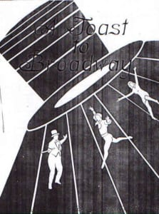 1985, A Toast To Broadway: Programme Cover