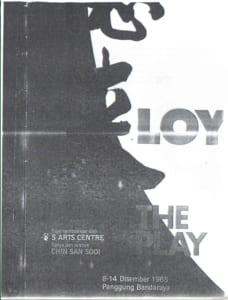 1985, Yap Ah Loy: Programme Cover