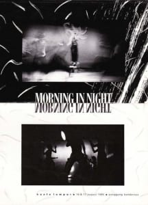 1986, Morning in Night: Programme Cover
