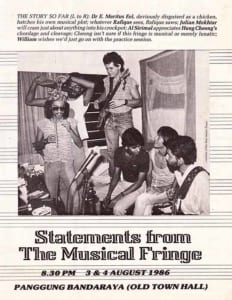 Statements from the Musical Fringe: Programme Cover