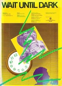 1986, Wait until Dark: Programme Cover