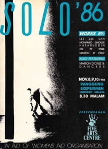 1986, Solo '86: Programme Cover