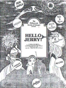 1987, Hello Jerry!: Programme Cover