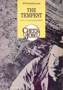 1989, The Tempest: Programme Cover