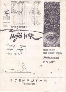 1989, Kotak-Kotak: Programme Cover