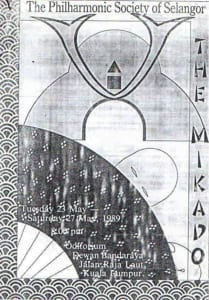 1989, The Mikado: Programme Cover