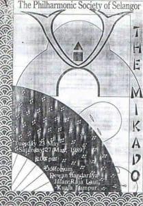 1989, The Mikado: Programme Cover